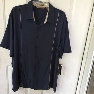 AXIST Shirt XL Button Front Washable 100% Silk